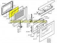Внутреннее стекло духовки для Плиты Bosch Siemens 285228