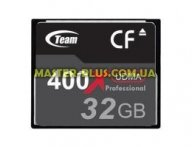 Карта памяти Team Compact Flash 32GB 400x (TCF32G40001) для компьютера