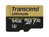 Карта памяти Transcend 64GB microSDXC class 10 UHS-I U3 MLC (TS64GUSDU3M)