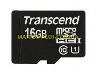 Карта памяти Transcend 16Gb microSDHC Class10 UHS-I (TS16GUSDCU1) для компьютера