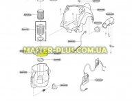 Кришка пластиковой емкости для сбора мусора для пылесоса LG 3300FI2282A