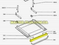 Накладка под ручку духового шкафа для плиты Electrolux 3305144010 для плиты