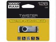 USB флеш накопитель GOODRAM 128GB UTS2 Twister Black USB 2.0 (UTS2-1280K0R11) для компьютера