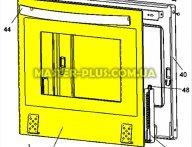 Стекло дверки (наружнее) Zanussi 3428308039 для плиты