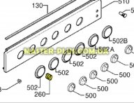 Пружина между ручкой и шкалой Electrolux 3543029031 для плиты