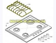 Решетка чугунная левая Electrolux 3546323126