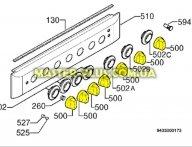 Ручка регулировки газа Electrolux 3550329076