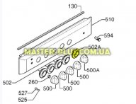 Лимб ручки регулировки газа духовки (черный) Electrolux 3552051157 для плиты