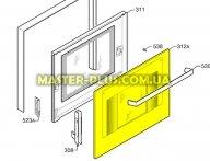 Стекло двери наружнее плиты  Zanussi 3578469938 для плиты