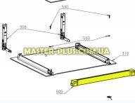 Верхняя пластиковая планка между стеклами духовки Electrolux 3870683202