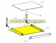 Стекло двери  (наружное) для плиты Electrolux 3874970266 для плиты