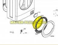 Стекло дверки (люка) Electrolux 4055113296 для стиральной машины