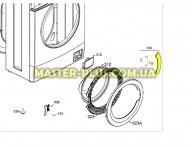 Ручка люка в сборе с крючком Zanussi 4055113411 для стиральной машины