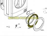 Обечайка дверки (люка) внутренняя Electrolux 4055113858