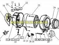 Шкив Electrolux 4055120234 для стиральной машины