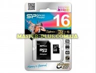 Карта памяти Silicon Power 16GB microSD Class10 UHS-I (SP016GBSTHDU1V10SP)