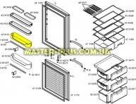 Полка (балкон) верхняя для Холодильника Bosch Siemens 439151