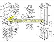 Клапан выдвижного ящика для Холодильника Bosch Siemens 442857 для холодильника