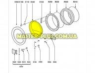 Скло дверцят (люка) Whirlpool 480111101165 для пральної машини