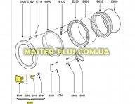 Ручка дверки (люка) Whirlpool 480111101166  для стиральной машины