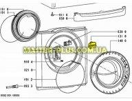 Крючок двери (люка) Whirlpool 480111101377 для стиральной машины