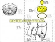 Крышка с уплотнителем и заливной воронкой блендера Bosch 481116 для кухонного комбайна