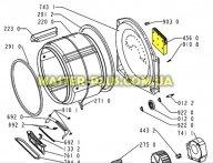 Тэн сушильной машины Whirlpool 481225928895 для сушильной машины