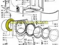 Резина (манжет) люка Whirlpool 481231018865