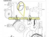 Ремень 1236 J4 EL «Hutchitson» черный для стиральной машины