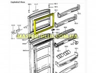Резина двери морозильной камеры Whirlpool 481241618893 для холодильника