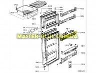 Полка (балкон) под лоток для яиц холодильника Whirlpool  481241828868 для холодильника