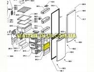 Передняя панель ящика морозильной камер Whirlpool 481241848689 для холодильника