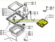 Бункер (дозатор) порошка для Стиральной машины Whirlpool 481241868404