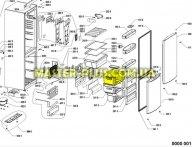 Ящик морозильной камеры (верхний) Whirlpool 481241868412 для холодильника