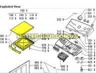 Крышка верхняя Whirlpool 481244010845 для стиральной машины