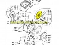 Крышка бака Whirlpool 481244019487 для стиральной машины