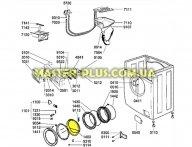 Скло дверки Whirlpool 481245059945 для пральної машини