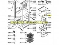 Обрамление стеклянной полки Whirlpool 481246049346 для холодильника
