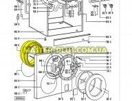 Резина (манжет) люка Whirlpool Bauknecht 481246668507 для стиральной машины