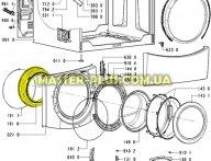 Резина (манжет) люка Whirlpool (10-ти киллограммовый) 481246668785 для стиральной машины