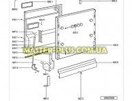 Уплотнитель двери нижний Whirlpool 481246668912 для посудомоечной машины