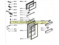 Резина дверки холодильной камеры Whirlpool 481246688697 для холодильника