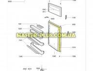 Уплотнительная резина холодильной камеры Ardo Whirlpool 481246688899 для холодильника
