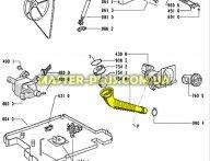 Патрубок от бака к насосу Whirlpool 481253028826 для стиральной машины