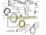 Обечайка дверки (люка) внутренняя  Whirlpool  481253228943