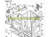 Кронштейн натяжного ролик Whirlpool 481940479189 для посудомоечной машины