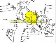 Барабан с крестовиной Whirlpool 481941818333 для стиральной машины