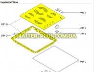 Стеклокерамическая поверхность (стекло)Whirlpool  481944238964 для плиты