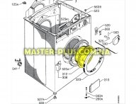Стекло дверки (люка) Electrolux 50097052000  для стиральной машины
