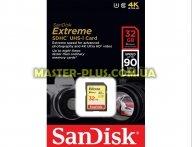 Карта памяти SANDISK 32GB SDHC Extreme Class 10 UHS-I U3 (SDSDXNE-032G-GNCIN)